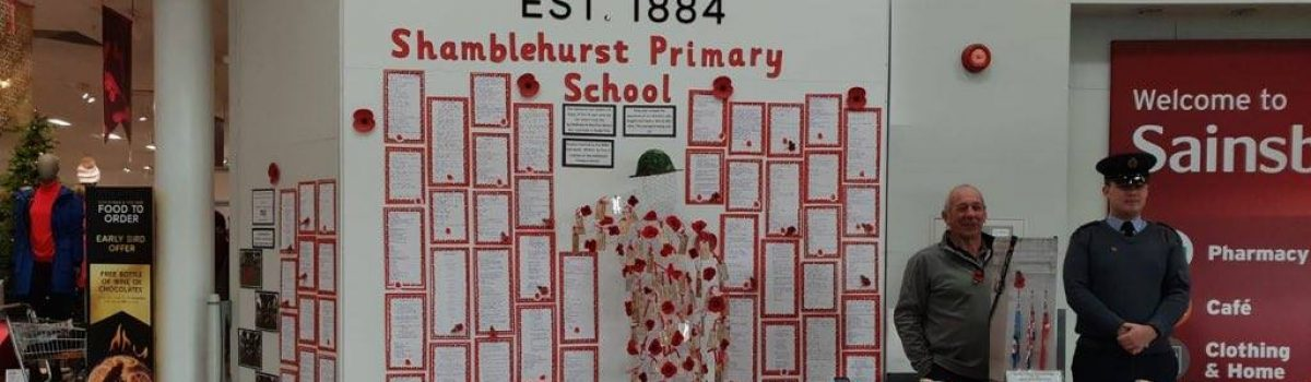 Remembrance Display in Marks and Spencer/ Sainsbury's, Hedge End