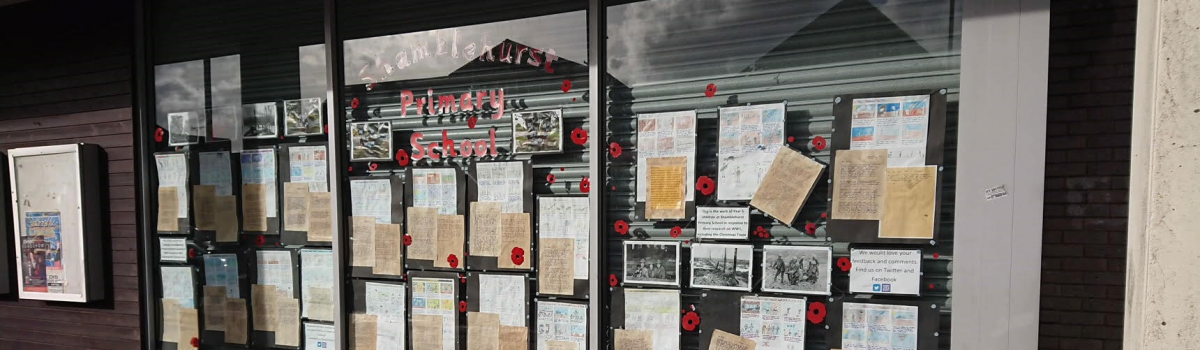 Remembrance Display in Budgens, Hedge End